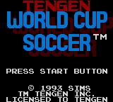 World Cup Soccer Game Gear Title screen