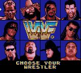 WWF Raw Game Gear Wrestler selection