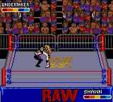 WWF Raw Game Gear HBK gives Undertaker the Sweet Elbow Music.