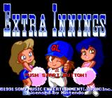 Extra Innings SNES Title screen