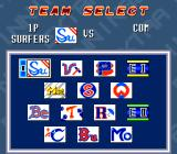 Extra Innings SNES Team select
