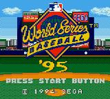 World Series Baseball '95 Game Gear Title screen