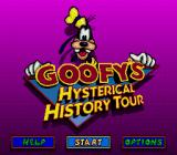 Goofy's Hysterical History Tour Genesis Title screen