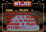 Hit the Ice: The Video Hockey League Genesis Main menu
