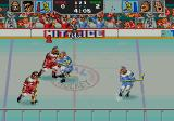 Hit the Ice: The Video Hockey League Genesis A game in progress