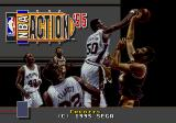 NBA Action '95 starring David Robinson Genesis Title with David Robinson