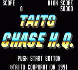 Chase H.Q. Game Gear Title screen