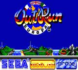 OutRun Europa Game Gear Title screen