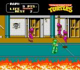 Teenage Mutant Ninja Turtles NES Raphael against Foot Clan soldiers. You have to beat hundreds and hundreds of Foot Clan soldiers.