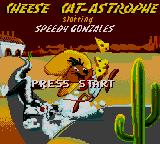 Cheese Cat-Astrophe starring Speedy Gonzales Game Gear Title screen