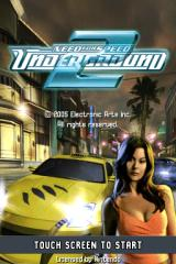 Need for Speed: Underground 2 Nintendo DS Title screen.