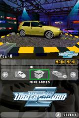 Need for Speed: Underground 2 Nintendo DS Main menu.