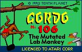 Gordo 106 Lynx Title screen