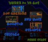 RapJam: Volume One SNES Choose a city to play in