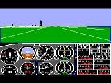 Flight Simulator II TRS-80 CoCo On the runway, preparing for takeoff