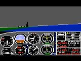 Flight Simulator II TRS-80 CoCo The weather isn't always perfect; here it is a little cloudy