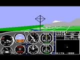 Flight Simulator II TRS-80 CoCo Flying in the battle scenario
