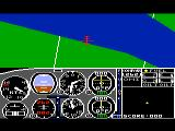 Flight Simulator II TRS-80 CoCo Searching for a target to bomb; I haven't found one yet