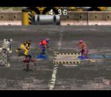 Street Hockey '95 SNES Some arenas have obstacles