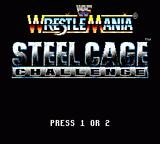 WWF Wrestlemania: Steel Cage Challenge Game Gear Title screen