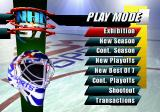 NHL 97 SEGA Saturn Main Menu