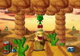 Bug! SEGA Saturn Jumping over an enemy in Reptilia