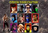 Mortal Kombat II SEGA Saturn Choose Your Fighter