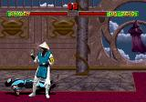 Mortal Kombat II SEGA Saturn Sub-Zero bounces up from a Raiden slam