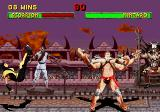 Mortal Kombat II SEGA Saturn Kintaro's Yell knocks Scorpion off his feet