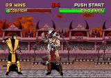 Mortal Kombat II SEGA Saturn Shao Kahn getting an idea.