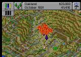 SimCity 2000 SEGA Saturn Planting trees in a fire