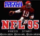 NFL '95 Game Gear Title screen