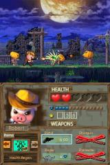 Barnyard Blast: Swine of the Night Nintendo DS Level one