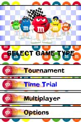 M&M's Kart Racing Nintendo DS Main menu.