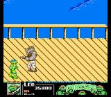 Teenage Mutant Ninja Turtles III: The Manhattan Project NES The bosses are monochromatic in this game, as they were in TMNT 2. Here is Rocksteady.