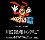Yo! Noid NES Title screen.