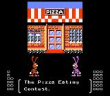 Yo! Noid NES There's a pizza eating contest at the end of every other stage.