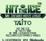 Hit the Ice: The Video Hockey League Game Boy Title screen