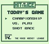 Hit the Ice: The Video Hockey League Game Boy Select your game type