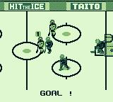 Hit the Ice: The Video Hockey League Game Boy We scored a goal!