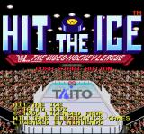 Hit the Ice: The Video Hockey League SNES Title screen