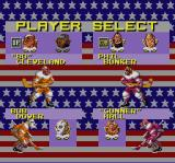 Hit the Ice: The Video Hockey League SNES Select your players