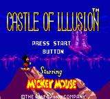 Castle of Illusion starring Mickey Mouse Game Gear Title