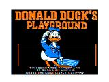 Donald Duck's Playground TRS-80 CoCo Title screen