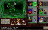 Eye of the Beholder Amiga A Mantis Warrior is attacking with halberd and dagger.