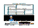 Donald Duck's Playground TRS-80 CoCo The railroad game - use the switches to get the train to make deliveries