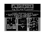 FlightSim I TRS-80 CoCo Title screen