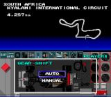 F1 Pole Position SNES Choose between having auto or manual gear shifting