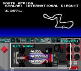F1 Pole Position SNES Choose the type of pit work