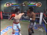 Rocky Xbox Pushing the control stick modifies your punches. Here's a hook.